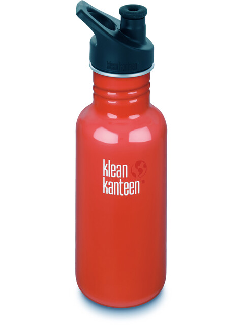 Klean Kanteen Classic 18oz Sport Cap (532 ml) flame orange